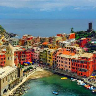"""Seaside Town"" Cinque Terre, Italy"