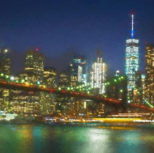 """Shimmering Brooklyn Bridge"" NYC"