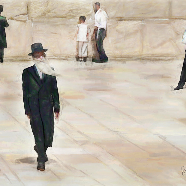 """Men at the Western Wall"" Jerusalem Israel"