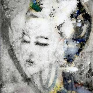 """Black & White Graffiti Lady"""