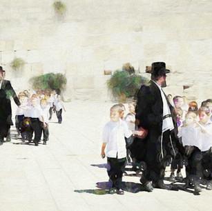 """""""Following The Leader"""" Western Wall Jerusalem, Israel"""