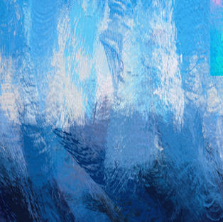 Blue Waves Abstract