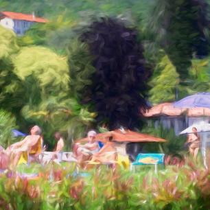 """""""Beach Day"""" Lake Como Italy"""