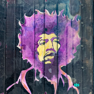 """""""Jimi Hendrix"""" NYC Graffiti"""