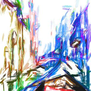 """""""Gondola Ride"""" Abstract Venice"""