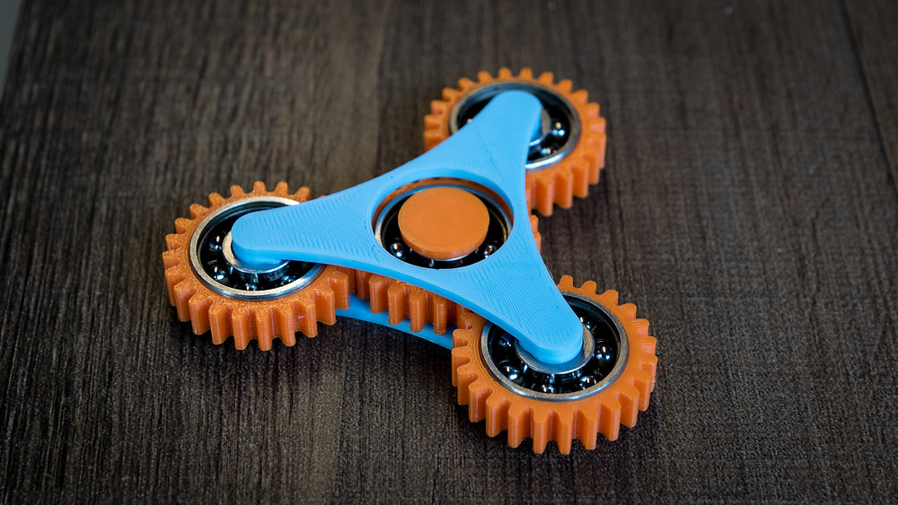 gears, spinner, fusion 360, 3d print