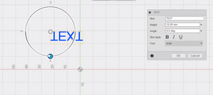 text in fusion 360