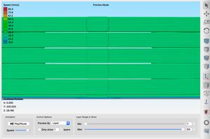 Image shows gap spacing in Simplify 3D