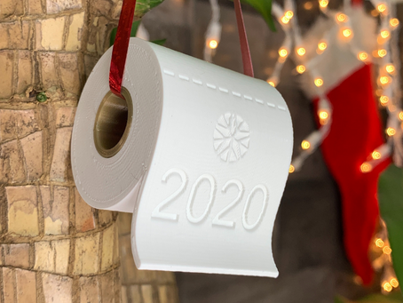 3D Printed 2020 Christmas Ornament Designed in Fusion 360