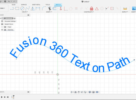 Fusion 360 Curved Text