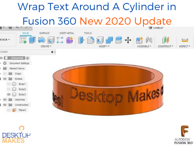 Create Curved Text in Fusion 360