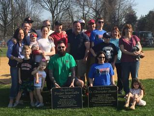 Lt. Hunter Honored with Baseball Field Dedication in Cinnaminson