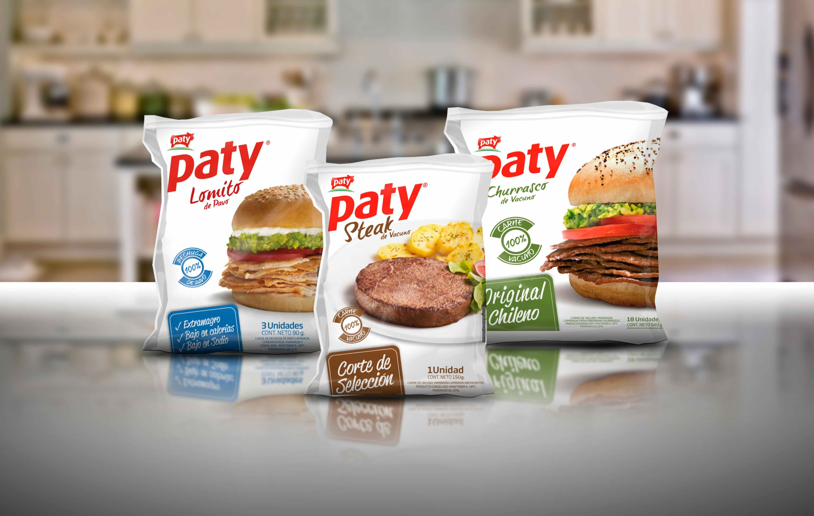 Diseño packaging productos Paty