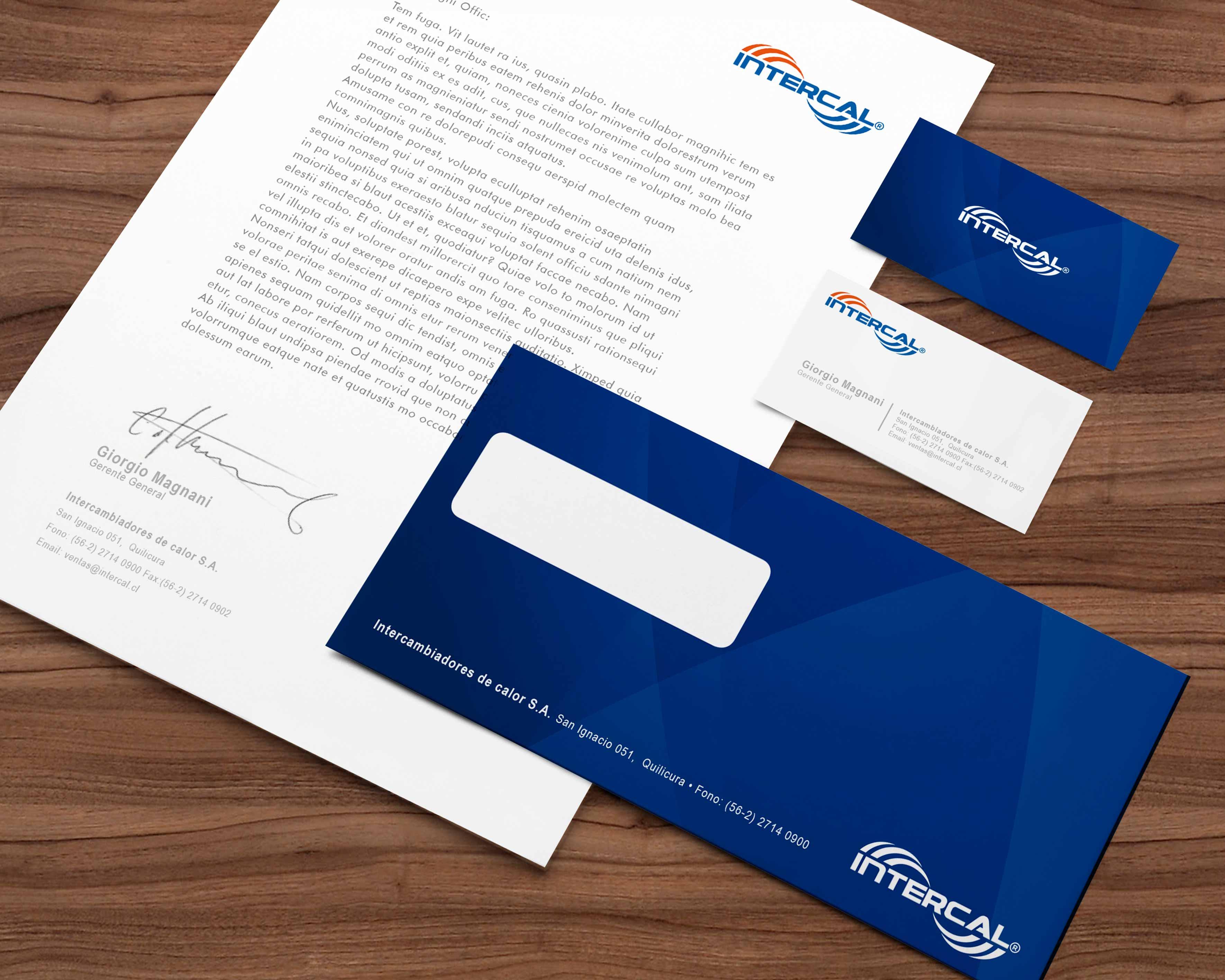 Diseño papelería Intercal