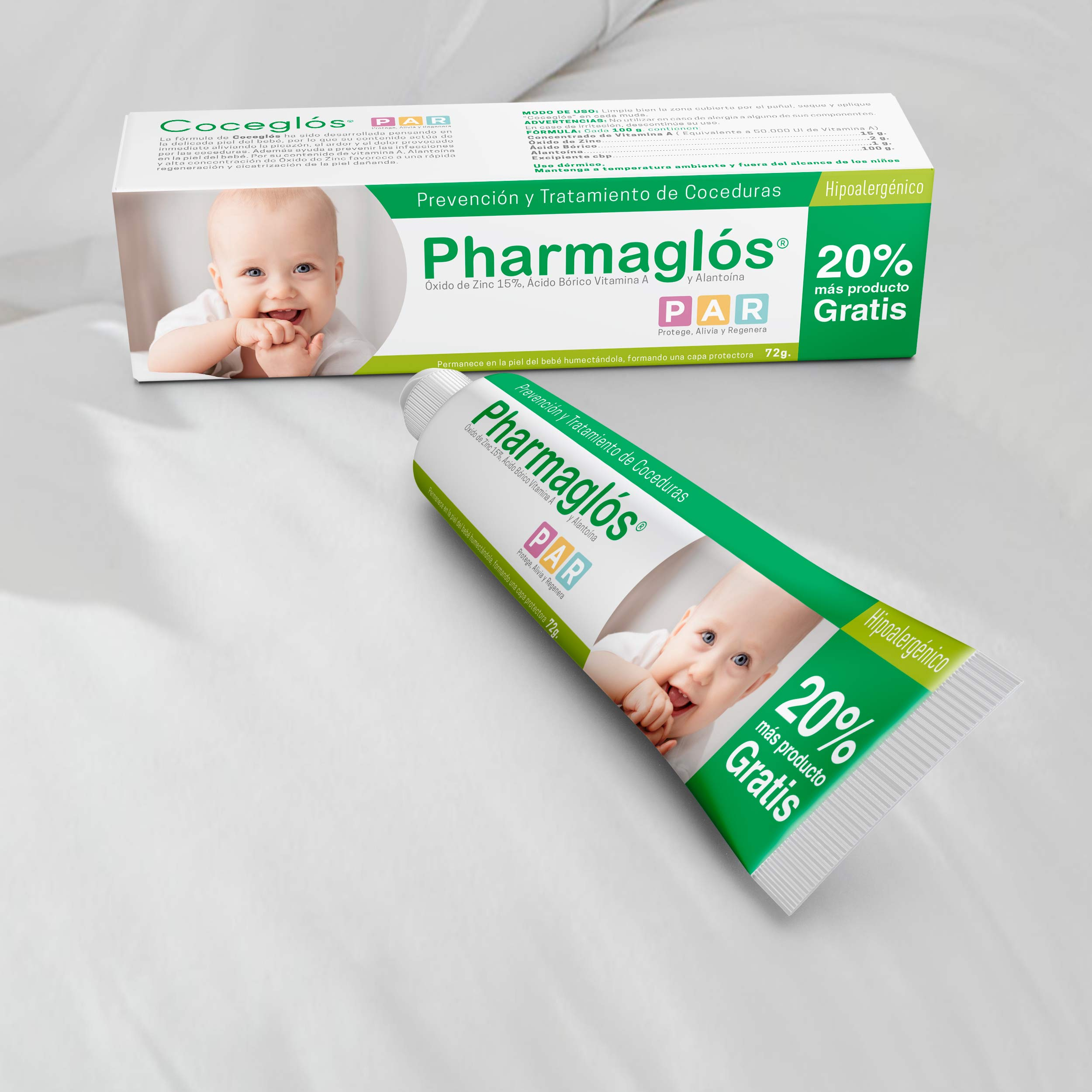 Diseño packaging productos Pharmaris