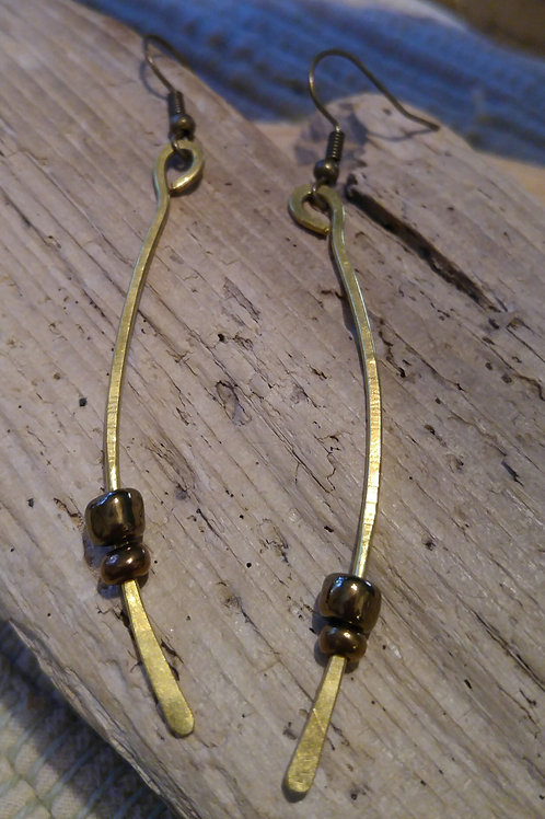 Brass Wire swing earrings