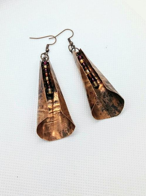 Trumpet Copper earrings