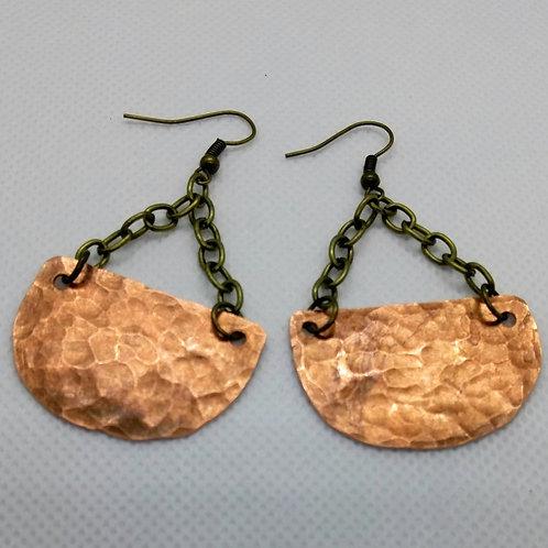 Pendulum swing Copper Earrings