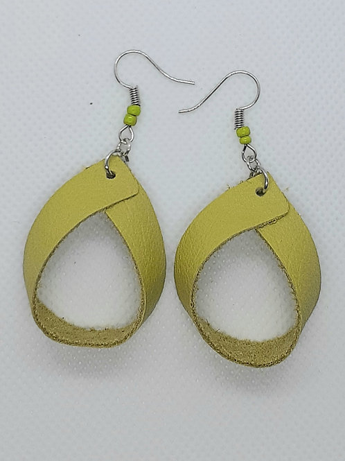 Leather Lime Green Hoops