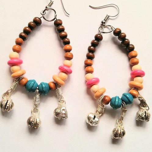 Fun Fesitval Boho Hoop earrings