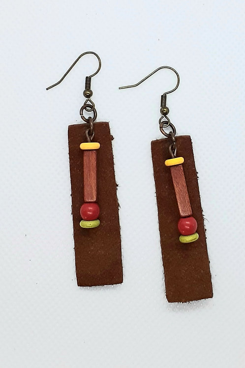 Adorned Brown Leather Bars