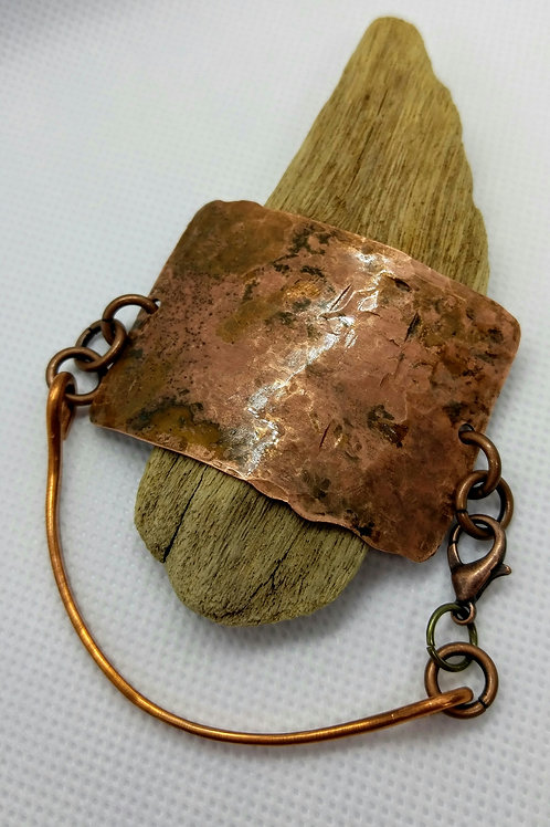 Unisex Flamed Copper Bracelet