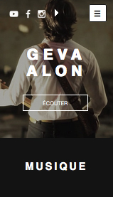 Artistes Solo website templates – Auteur Compositeur Folk