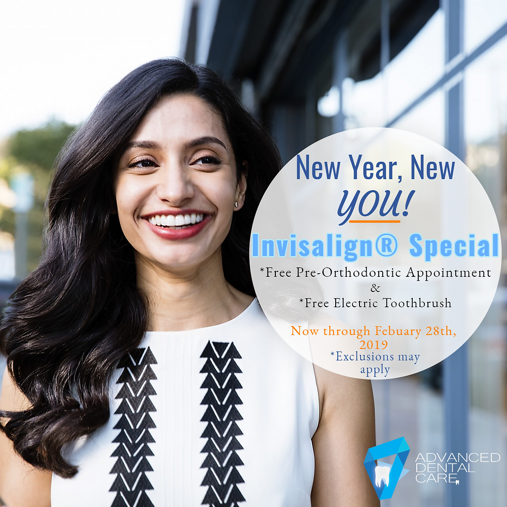 Female after Invisalign® Treatment(Ad Plymouth Advanced dental care - dentists)