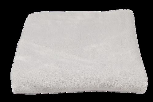 Fleecedeken bed grijs