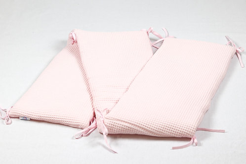 Bedomranding wafelstof roze