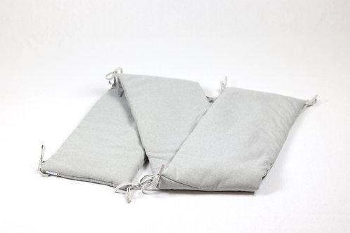 Bedomranding chambray grijs