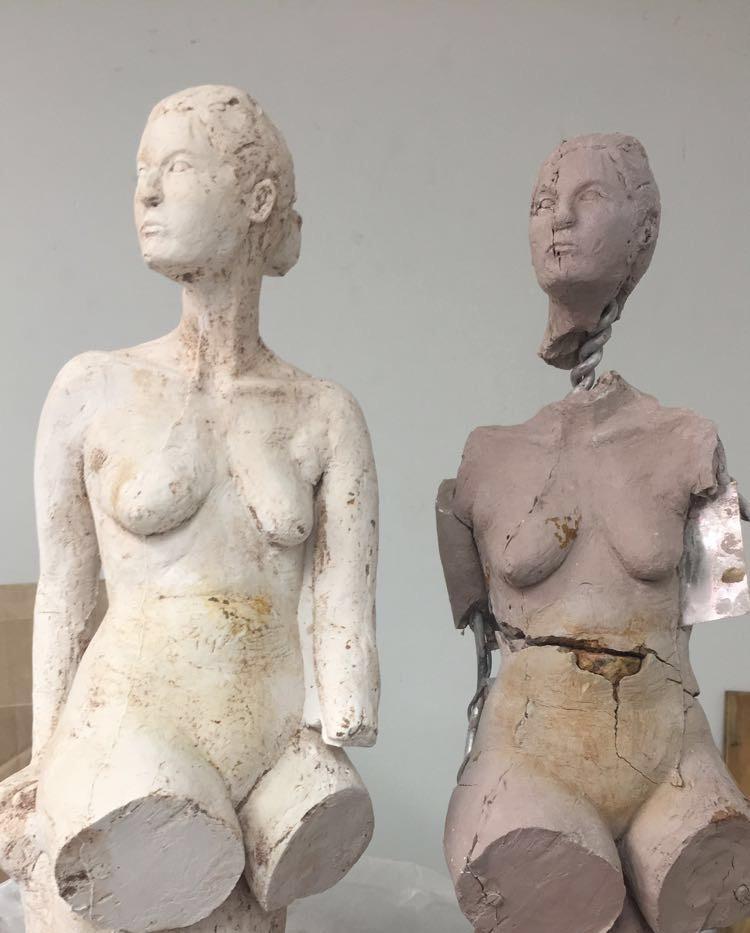 Plaster cast of original figure