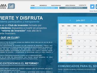 PINAMA, Calendario con agenda y comunicados a los socios en la web.