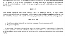 CONVOCATORIA DE JUNTA GENERAL EXTRAORDINARIA WKP 23 ABRIL 2019