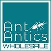 Square Ant Antics White BLUE DARK wholes