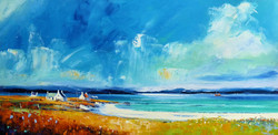 Bright sky over the Isle of Barra
