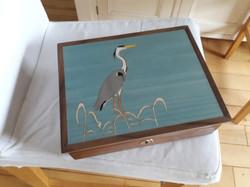 Keepsake Box with Heron Inlay