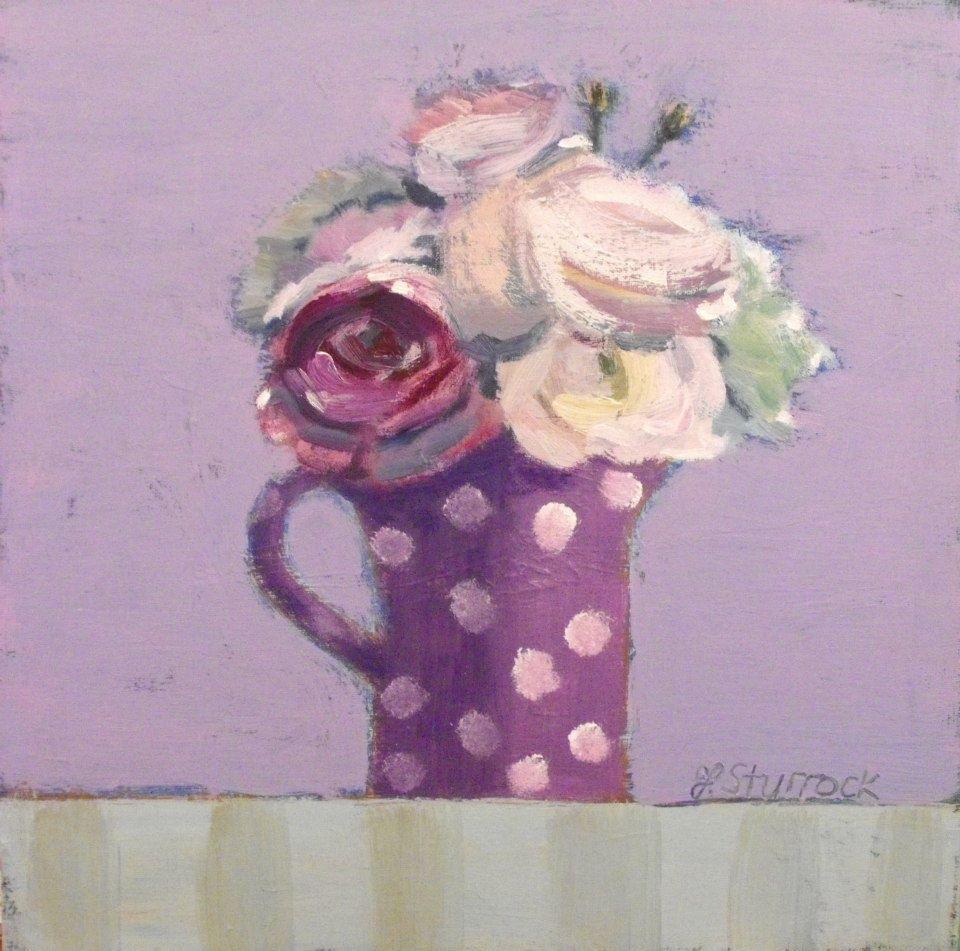 Purple Spotted Jug