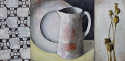 White jug with two panels