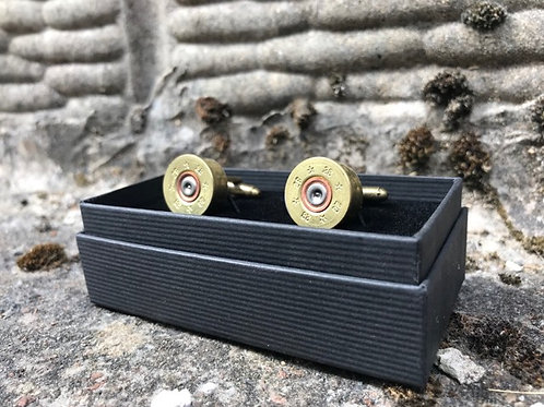 Shot Gun Cartridge Cufflinks by Jamie Boult