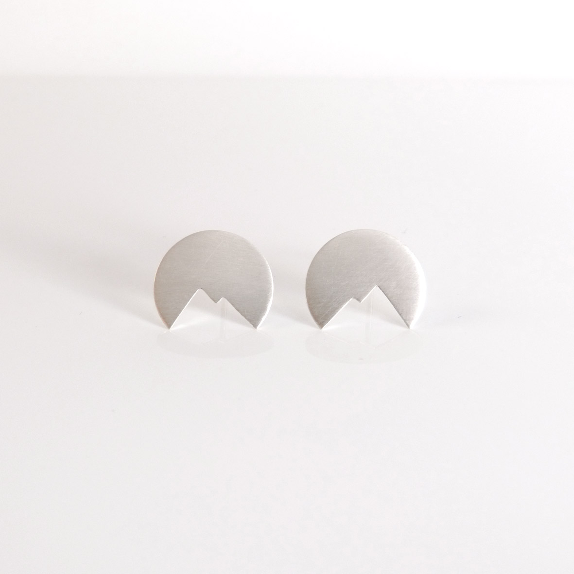 Moon and Mountain Earrings