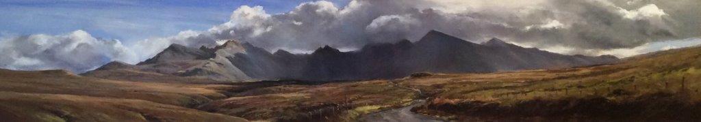 Distant Cuillin, Glen Brittle, Skye