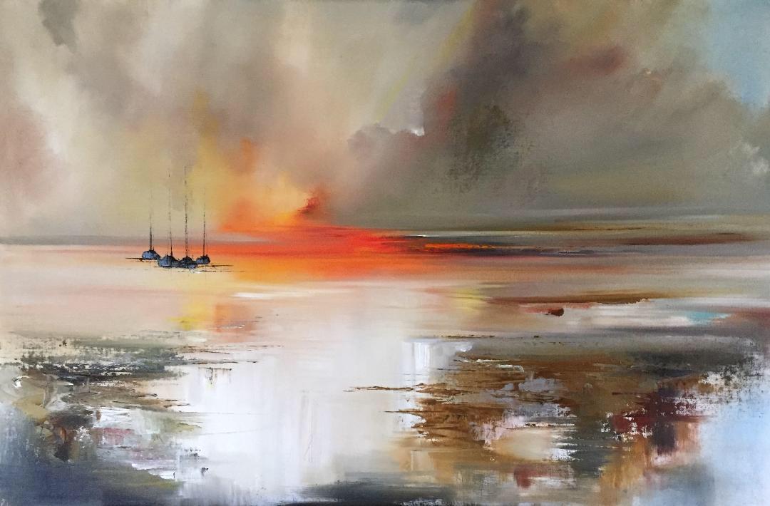 Sunset Spilling Across the Sea