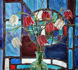Fritillaries & Stained Glass