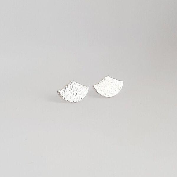 Schiehallion Earrings Large Hammered