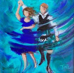 Twirlin' Blue