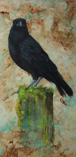 Carrion Crow on Post