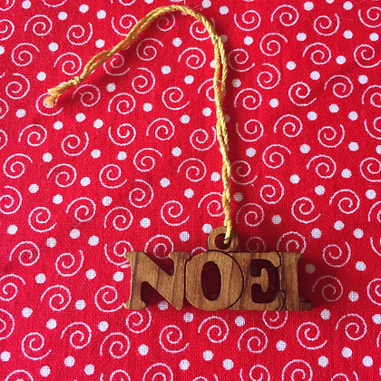 Olivewood Noel Decoration