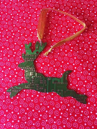 Recycled Motherboard Reindeer