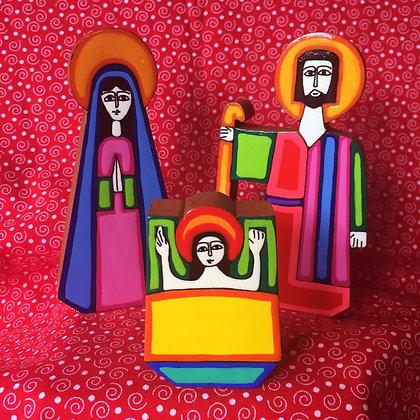 Handpainted Wooden Nativity